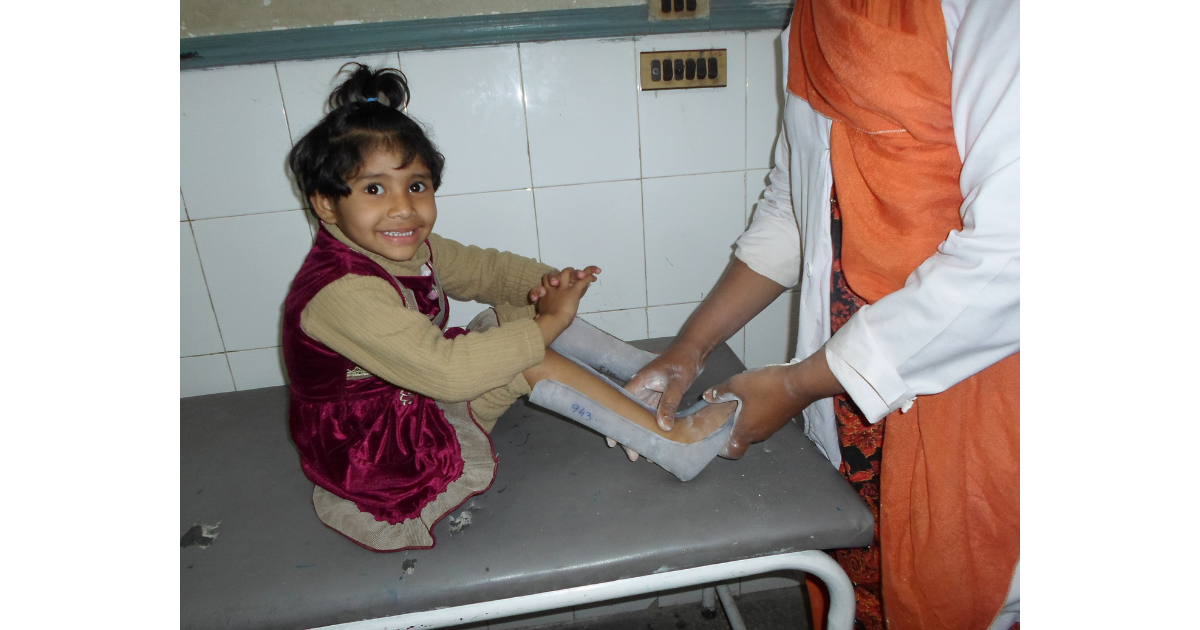 Child Receiving Free Orthopedic Care